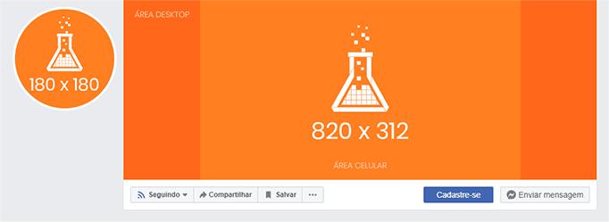 Imagem mostra templates da foto de perfil e capa para Fanpages no Facebook