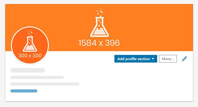 Imagem mostra template para capa e perfil pessoal no LinkedIn