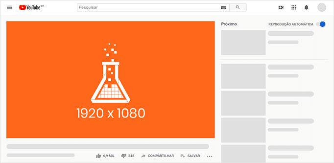 Imagem mostra template para capa de vídeos no YouTube.