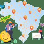 Mapa de clientes da mLabs